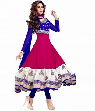 Lady Fashion Villa pink designer salwar suit @ Rs927.00