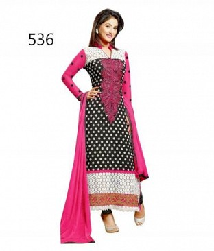 Lady Fashion Villa black designer salwar suit @ Rs958.00