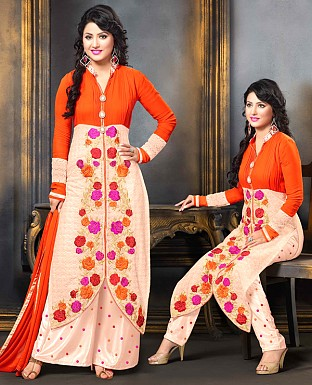 Designer Georgette with Heavy Embroidery Suit@ Rs.1853.00