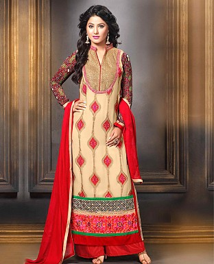 Designer Georgette with Heavy Embroidery Suit @ Rs1853.00