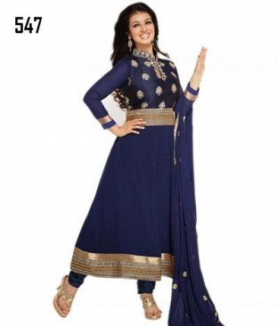 AAESHA BLUE ANARKALI @ Rs1297.00