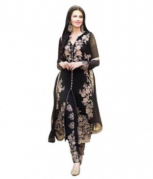 Lady Fashion Villa black designer salwar suit @ Rs890.00