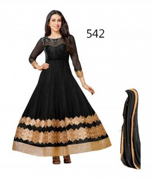 Lady Fashion Villa black designer salwar suit @ Rs1051.00