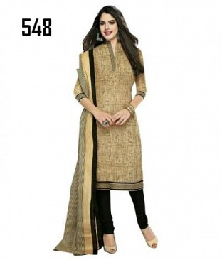 Lady Fashion Villa chiku designer salwar suit @ Rs680.00