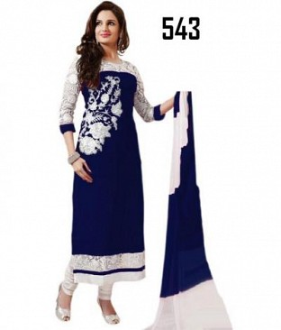 Lady Fashion Villa blue designer salwar suit @ Rs976.00