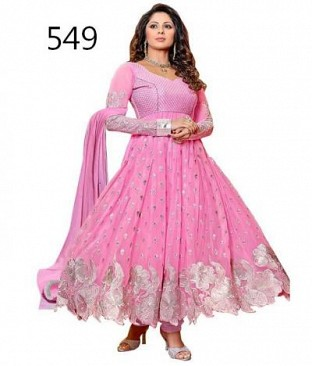 Lady Fashion Villa pink designer salwar suit @ Rs841.00