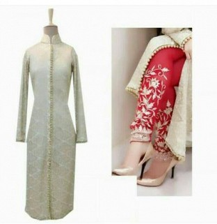Lady Fashion Villa cream designer salwar suit @ Rs804.00