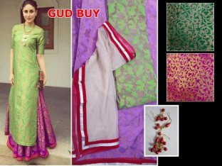 Lady Fashion Villa green designer salwar suit @ Rs927.00