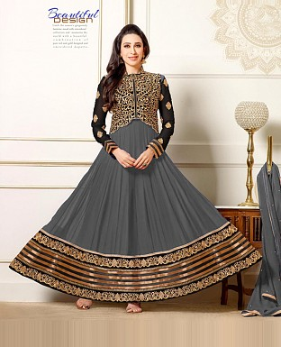 Karishma grey anarkali suit @ Rs1297.00