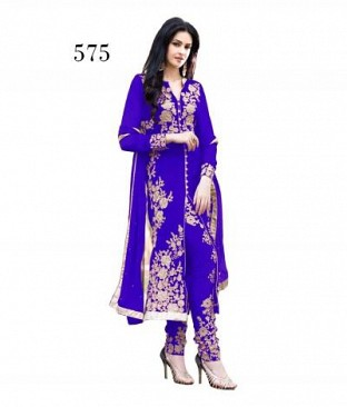 CHAIN STICH  ROYAL BLUE @ Rs926.00