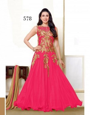 Lady Fashion Villa pink designer salwar suit @ Rs1076.00