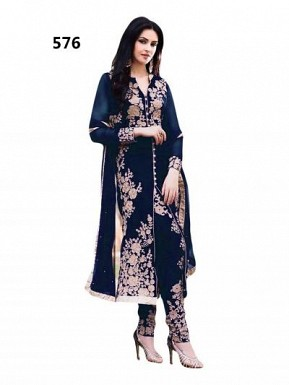 Lady Fashion Villa black designer salwar suit @ Rs1076.00