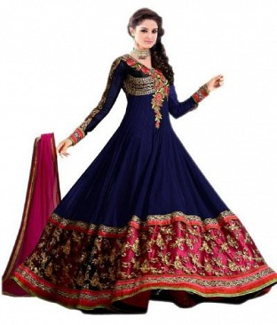 Lady Fashion Villa blue designer salwar suit @ Rs742.00