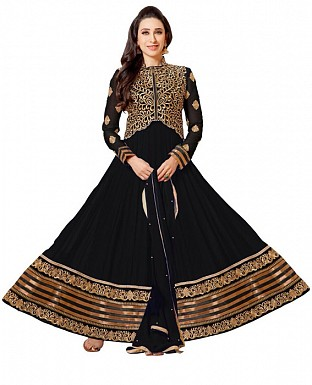 Karishma black anarkali suit @ Rs1235.00