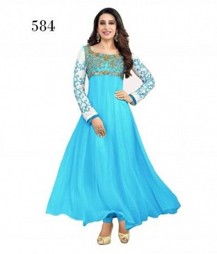 Lady Fashion Villa sky blue designer salwar suit @ Rs965.00