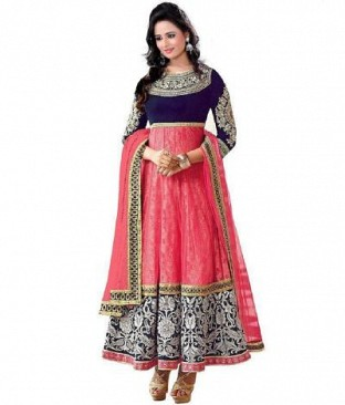 Lady Fashion Villa pink designer salwar suit @ Rs742.00