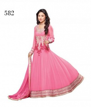 Lady Fashion Villa pink designer salwar suit @ Rs866.00