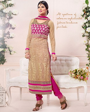 sayali latest gold pink Straightfit salwar suit @ Rs2184.00