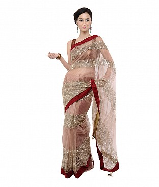 Veeraa Multi Color Net Saree @ Rs669.00