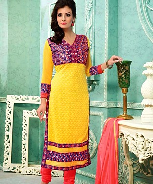 Embroidered  Designer Straight Suit Buy Rs.711.00