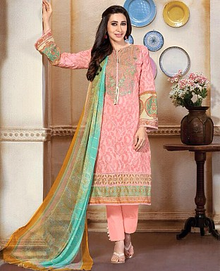 Embroidered Karachi Style Semi Lawn Suit@ Rs.2059.00