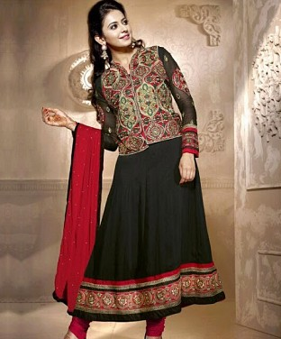 60 Gram Georgette Anarkali Semi Stitched Salwar Suit @ Rs1853.00