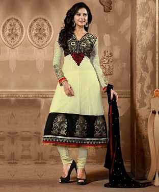60 Gram Georgette Anarkali Semi Stitched Salwar Suit @ Rs1750.00