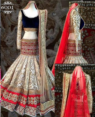 Cream Pearl Lehnga @ Rs3399.00