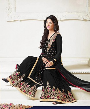 Thankar Latest Heavy Floor Length Designer Black Anarkali Suit @ Rs1730.00