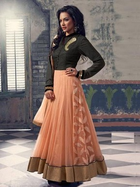 Lady Fashion Villa Peach designer salwar suit @ Rs1076.00