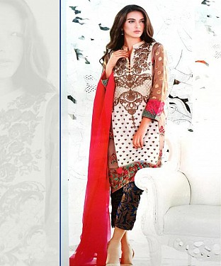 Thankar Georgette Embroidered Designer Multy Straight Suits @ Rs2224.00