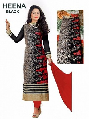 HEENA PENAL  NAVY Black @ Rs988.00