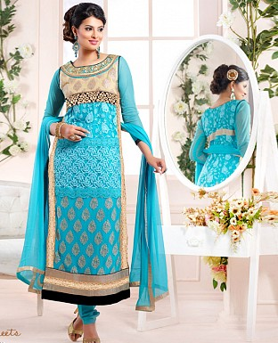 sayali latest sky Straightfit salwar suit @ Rs2059.00