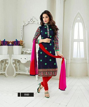 designer Black & pink colour salwar suit@ Rs.1482.00