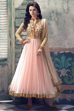 Lady Fashion Villa pink designer salwar suit @ Rs988.00