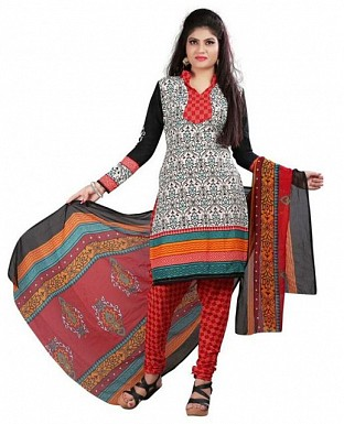 Multicolor Poly Crepe Printed Dress Materials @ Rs370.00