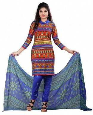 Multicolor Stunning Crepe Printed Dress Materials @ Rs370.00