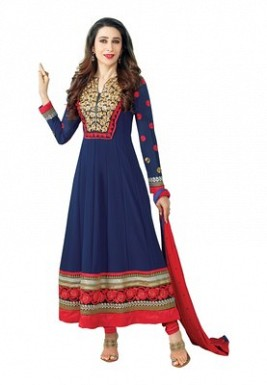 Lady Fashion Villa blue designer salwar suit @ Rs1076.00