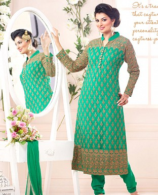 sayali latest sea green Straightfit salwar suit @ Rs2059.00