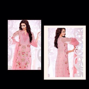 Lady Fashion Villa pink designer salwar suit @ Rs1347.00