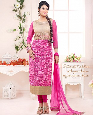 sayali latest rani pink Straightfit salwar suit @ Rs2059.00