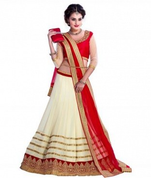 Lady Fashion Villa red designer sarees @ Rs988.00