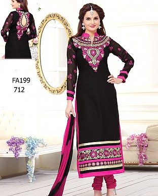 fancy heavy black pink embroidred salwar suit @ Rs1039.00