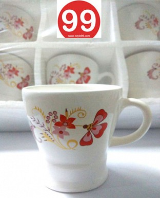 High Quality Light Wgt Bone China Tea Cups Coffee Mug- Set of 6psc@ Rs.330.00