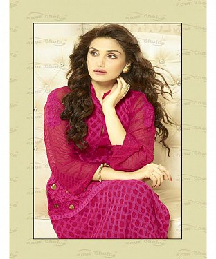 PINK CHIFFON STRAIGHT SUIT @ Rs1606.00