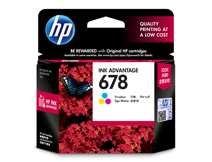 HP 678 Tri-color Ink Cartridge (CZ108AA) @ Rs631.00