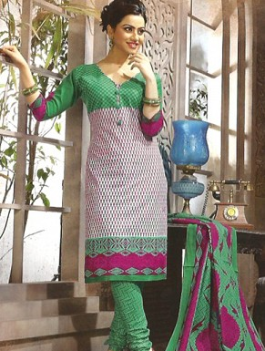 Desginer Cotton Suit with Dupatta @ Rs514.00