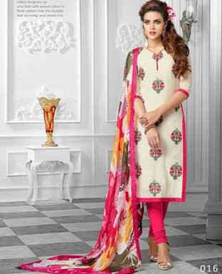 Designer Pink Latest Cotton Salwar Suit Dress Material S716 @ Rs680.00