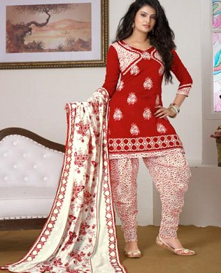 sayali bhagat red colour patiyala suit @ Rs864.00