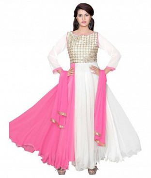 782305-Shadded light pink And White party were anarkali suit @ Rs988.00